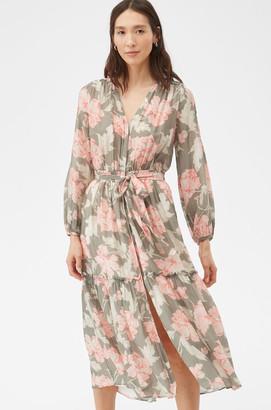 Rebecca Taylor La Vie Peonies Voile Dress