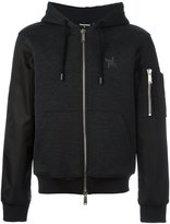DSQUARED2 bomber sleeve hoodie