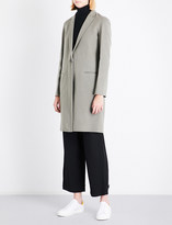 Theory Essential single-breasted wool and cashmere-blend coat