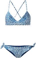 Mara Hoffman print cross back bikini - women - Polyester/Spandex/Elastane - XS