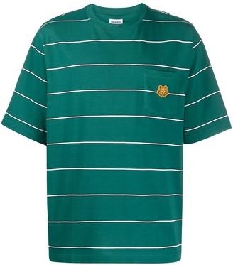 Kenzo Tiger pocket striped T-shirt