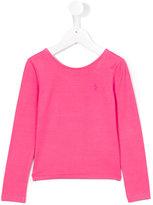 Ralph Lauren plain sweatshirt - kids - Spandex/Elastane/Modal - 2 yrs