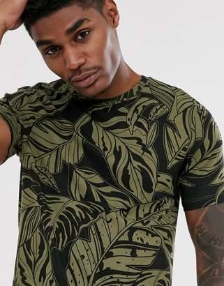 Bershka Join Life regular fit print t-shirt in green