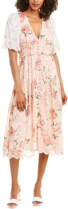 HEMANT AND NANDITA Floral Midi Dress