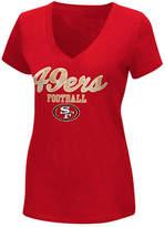 G-iii Sports Women's San Francisco 49ers Playoff Glitter T-Shirt