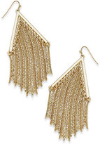 Thalia Sodi Gold-Tone Chain Fringe Chandelier Earrings, Only at Macy's