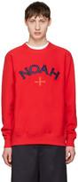 Noah Red Varsity Logo Sweatshirt