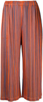 Pleats Please By Issey Miyake - pleated cropped trousers - women - Polyester - 2