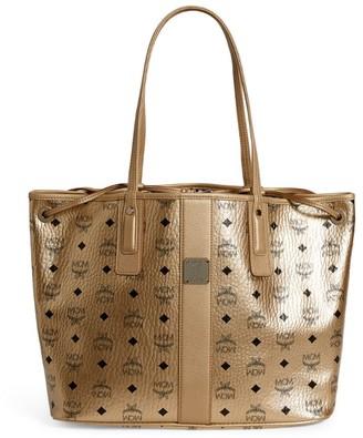 MCM Metallic Visetos Tote Bag