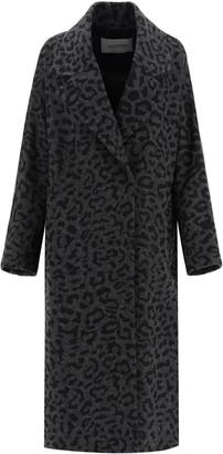 Valentino animal coat in wool
