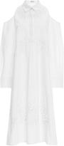 Suno Cutout Shirt Dress