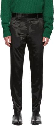 Paul Smith Black Crushed Velvet Trousers