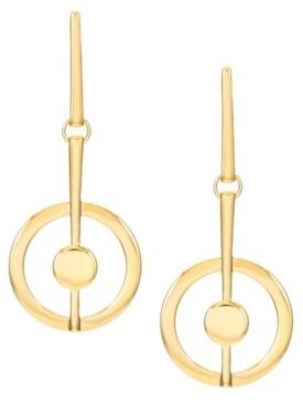 Trifari 14K Gold-Plated Linear Earrings