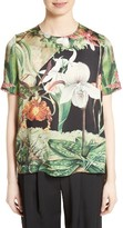 ADAM by Adam Lippes Women's Print Silk Tee