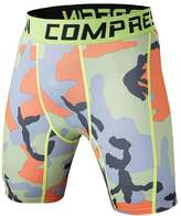 1Bests Men's Sports Fitness Camouflage Tight Underpants Running Compression Shorts (3XL, )