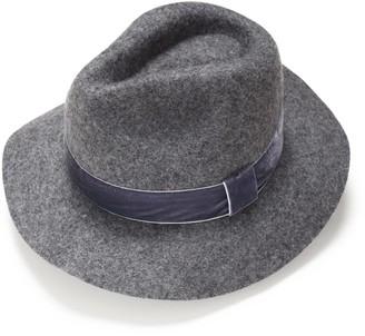 Justine Hats Grey Felt Fedora