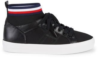 Tommy Hilfiger Stripe Knit High-Cut Sneakers