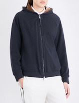Brunello Cucinelli Reversible stretch-jersey and velvet hoody
