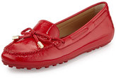 MICHAEL Michael Kors Daisy Saffiano Leather Moccasin, Crimson