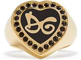Dolce & Gabbana Logo-embellished heart ring