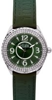 Alviero Martini Prima Classe Women's PCD 924S/ZZ Stainless Steel Green Dial Crystal Watch