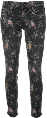 R 13 Light Floral Print Jeans