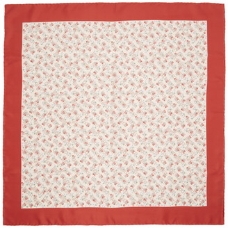 Gucci Off-White and Red Liberty London Edition Floral Scarf