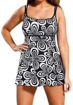 Akmipoem Women Plus Size Swimdress One Piece Swimsuit Bathing Suit Swimwear With Shorts