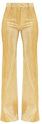 Françoise Francoise - High-rise Lame Flared-leg Trousers - Gold
