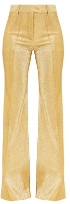 Francoise - High-rise Lame Flared-leg Trousers - Gold