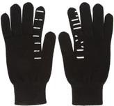 Unravel Black Cashmere Tattoo Gloves