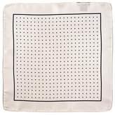 Black White and Navy Polka Dot Italian Silk Pocket Square