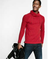 Express marled funnel neck sweater