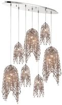 Eurofase Danza Collection 10-Light Chrome Chandelier with Crystal Shade