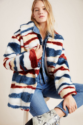 Anthropologie Leona Faux Fur Coat