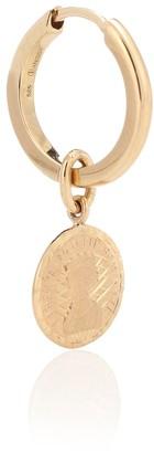 Anissa Kermiche Louise dOr Single Coin 14-kt gold single earring