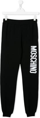 Moschino Kids TEEN logo printed track pants