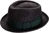 Christy Christys' Whitstable Wool Felted Trilby Hat, Charcoal