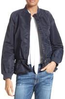 Frame Women's Ruffle Bomber Jacket