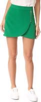 Alice + Olivia Lennon Side Zip Overlap Skirt
