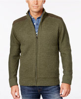 Weatherproof Vintage Men's Ribbed Zipper Cardigan, Classic Fit