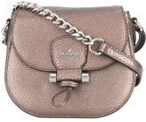 Hogan foldover metallic crossbody bag