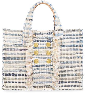 Kooreloo Midi Tweed Book Tote Bag with Coins