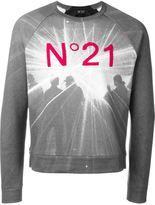 No.21 logo appliqué printed sweatshirt