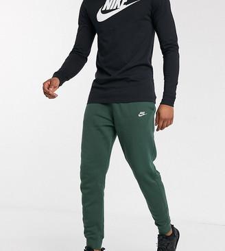 Nike Tall Club cuffed joggers in khaki-Green