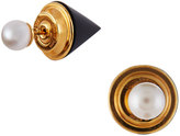 Vita Fede Double Titan Pearl & Onyx Jacket Earrings