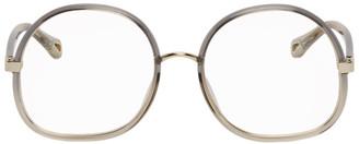 Chloé Grey Injected Rim Oversized Square Glasses