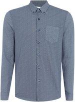 Peter Werth Men's Redman Micro Dash Printed Cotton Shirt