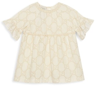 Gucci Baby's & Little Girl's GG Broderie Anglaise A-Line Dress