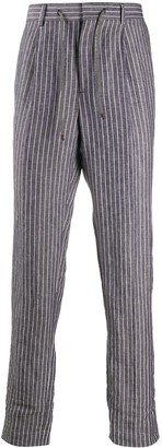 Brunello Cucinelli Striped Drawstring Trousers